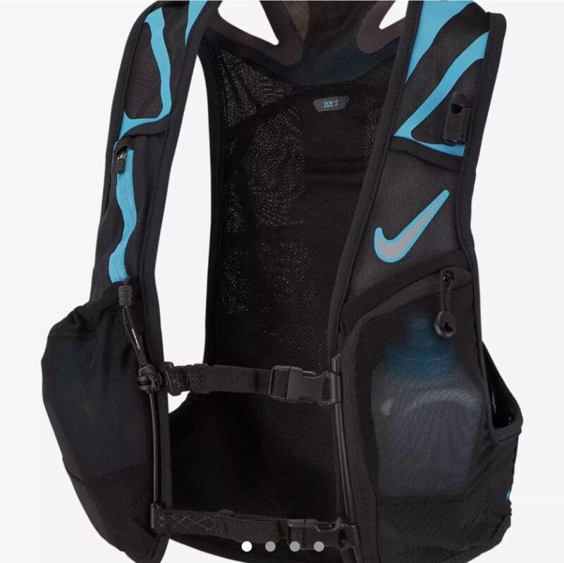 Nike Kiger Trail Lightweight Running Vest Black Blue NRLA1-018 Size L