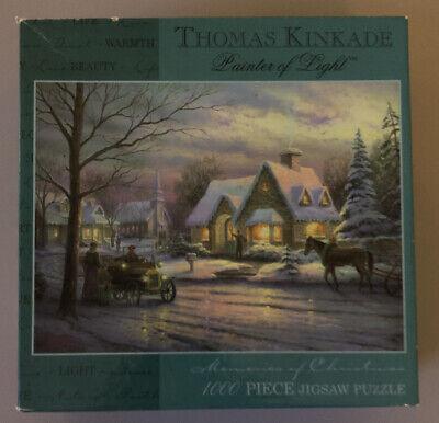 Thomas Kinkade 2002 Ceaco Jigsaw Puzzle Memories of Christmas 1000 Piece Snow