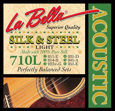 La Bella 710L Silk and Steel Acoustic Guitar Strings light gauges (La Bella Guitar)