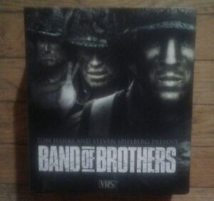 Band of brothers  6 cassette vhs tape mini series mint shape