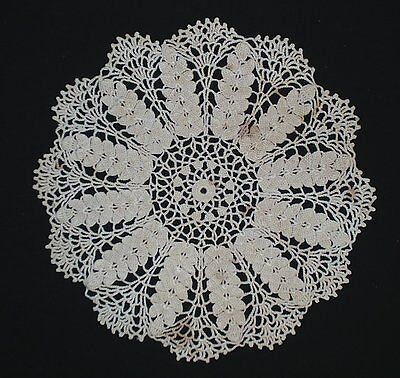 """Handcrafted Crochet Doilie 14"""" Across New Hand Dyed"""