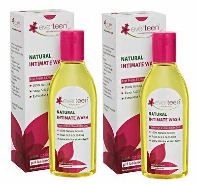 2 natural intimate wash 105ml