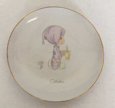 1983 precious moments October small decorative plate collectible