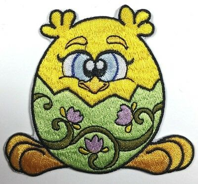 CHICK IN EGG CHICKEN EASTER IRON ON PATCH FREE SHIPPING (Easter Egg Chicken)