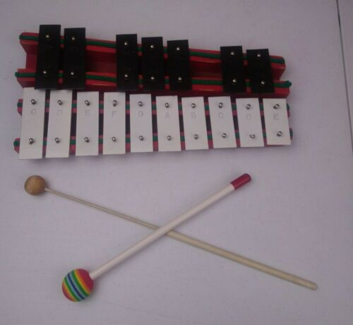 Vintage Student Rhythm Band Incorporated Japan Xylophone With 2 Mallets
