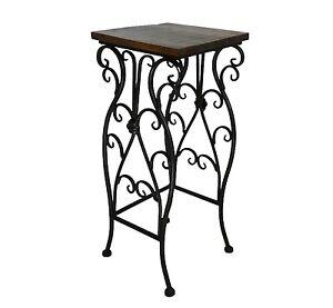 sellette console table gigogne d appoint ideal porte plante ou autre fer bois ebay. Black Bedroom Furniture Sets. Home Design Ideas