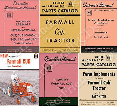 Ih International Farmall Cub Lo Boy 1947-1964 Owner Parts Manual Manuals On Cd
