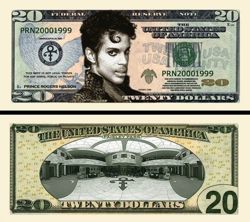 Prince $20  Novelty Money