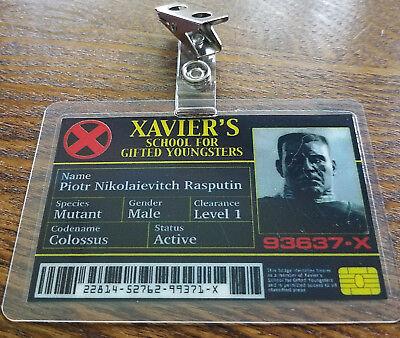 X men ID Badge -Xavier's School Rasputin Colossus cosplay prop costume