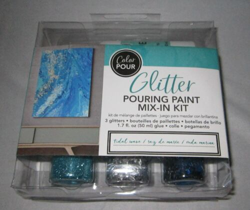 Color Pour Glitter Pouring Paint Mix-in Kit ~ Tidal Wave ... by American Crafts