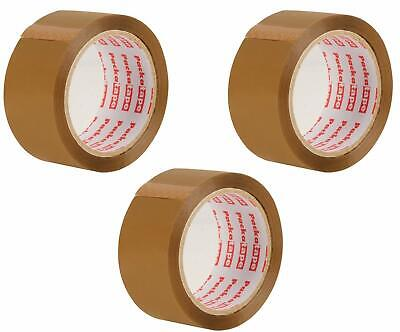 3 Rolls of  Brown Packing Tape Heavy Duty Strong For Packaging, Free Shipping
