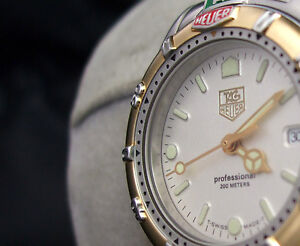 TAG-HEUER-LADYS-LADIES-4000-DIVING-WATCH-200-METER-GOLD-SPORT-IRIDESCENT