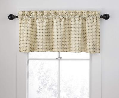 Veratex The Quasar Collection Window Valance, Almond Beige 50