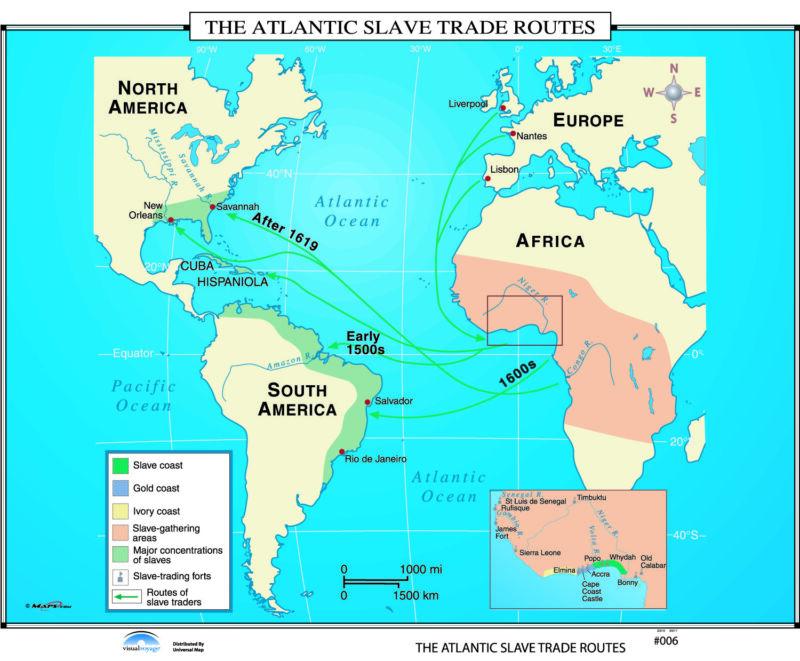006 The Atlantic Slave Trade Routes