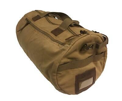 Augur Unisex Canvas and Leather Tote Duffel Shoulder Bag, Style 960, Khaki