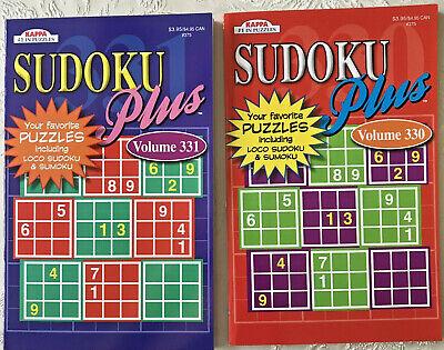 2 Sudoku Plus Puzzle Books Sumoku Loco Lot Kappa Games Hobby Vol 330-331 Pocket