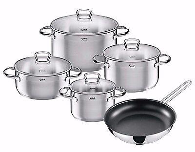 WMF Silit 9-piece Toskana 18/10 Stainless Steel Cookware Set
