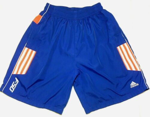 Vintage Adidas Blue Board Shorts Swimming Trunks 3 Stripes Size Youth XL Pockets