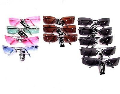 Retro High Fashion Sunglasses designer look with colored lens lot of 12