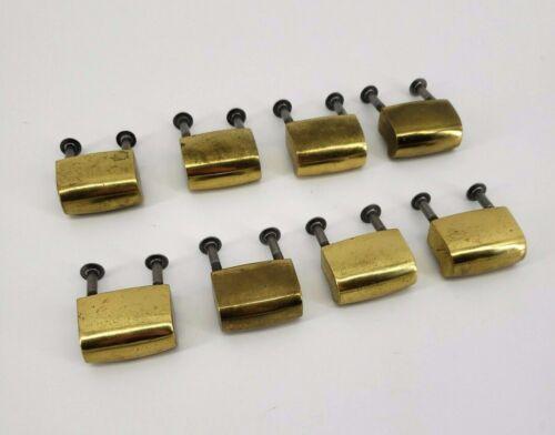MidCentury Modern Drawer Pulls/ Knobs Brass Set of 8 MCM Vintage Credenza