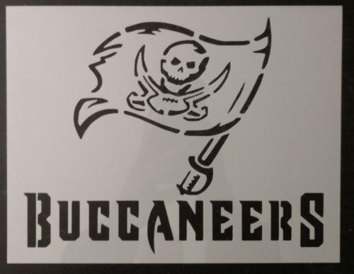 "Buccaneers Tampa Bay 11"" x 8.5"" Custom Stencil FAST FREE SHIPPING"