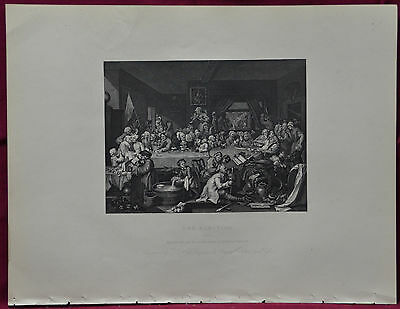 The Election WILLIAM HOGARTH 4 steel plates by various engravers