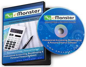 Accounting, Bookkeeping & Personal Finance Software CD