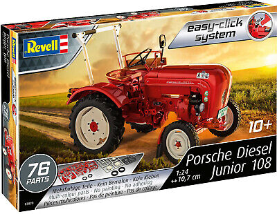 REVELL 07820 Porsche Junior 108 Tractor- Easy-Click System. 1/24 scale Kit