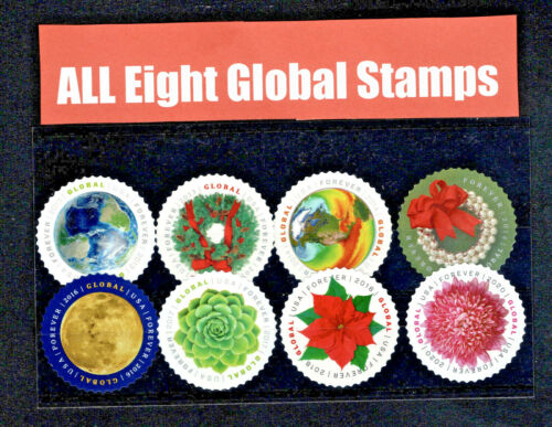 (65) GLOBAL FOREVER INTERNATIONAL FIRST CLASS STAMPS  2013-2020 MNH