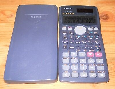 FREE SHIPPING Vintage Casio fx-991MS S-V.P.A.M. Calculator Working with Case