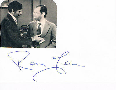 """Ron Leibman genuine autograph signed card 4""""x6"""" w. attached picture US actor"""