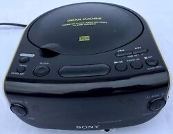 Sony Dream Machine CD Player -- Model ICF-CD815 - FM/AM CD Clock Radio CD-R/RW