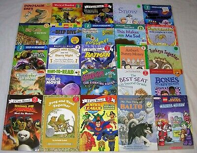 Lot 25 LEVEL 2 BOYS I Can Read, Step Into Reading, Scholastic Readers FREE SHIP