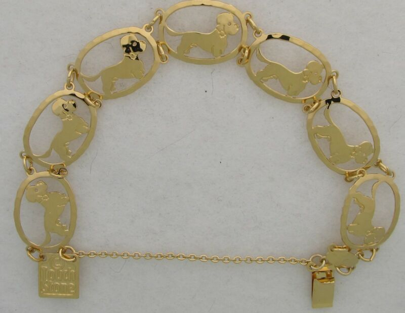 Dandie Dinmont Terrier Jewelry Gold Bracelet by Touchstone Dog Designs