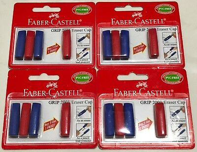 16x Faber-castell Grip 2001 Eraser Caps Pencil Lead Protectors