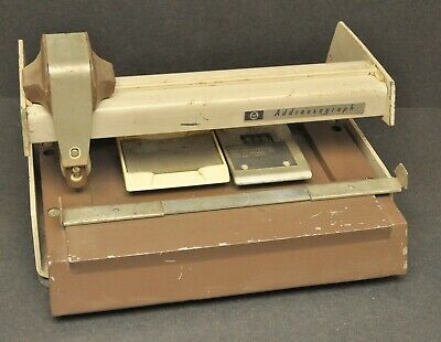Vtg Addressograph Credit Card Imprinter Manual Swiper Peterich Cycle Orland Ca