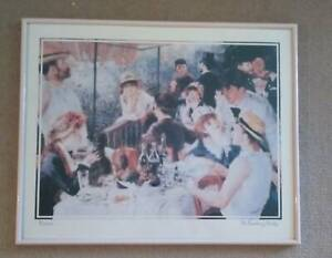 Framed Print - Renoir The Boating Party