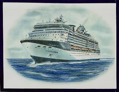 Original Art Work    Gts Constellation    Celebrity Cruises   Cruise Ship
