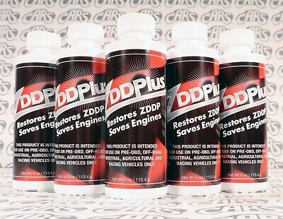 ZDDPlus ZDDP Engine Oil Additive Restores Zinc Every Oil Change. 5 Pack Discount