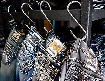 Rock Revival Mens / Womens Jeans Custom Store Display / Closet Gun Metal Hooks (Man Woman Store)