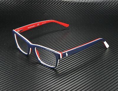 RALPH LAUREN POLO PREP PP8534 5667 Blue White Red Demo Lens 46m Men's Eyeglasses