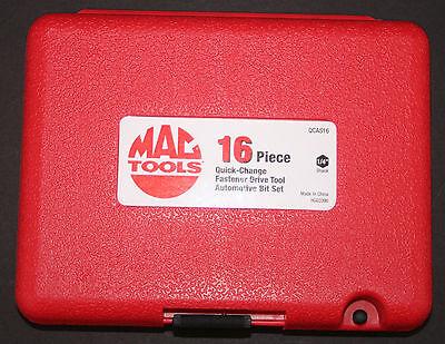 MAC TOOLS 16-PCE QUICK CHANGE TORX BIT SOCKET SCREW DRIVER TOOL SET - QCAS16