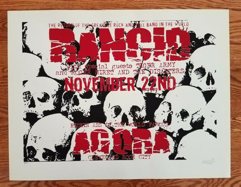 Rancid Poster with special guests Tiger Army, Roger Miret, The Disasters Nov. 20