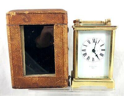 19th CENTURY C FARRER PARIS CASED CARRIAGE CLOCK