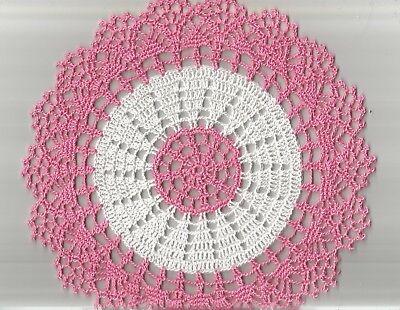1 Doily Rose (1 Crochet Small Gift Doily Doilies 10