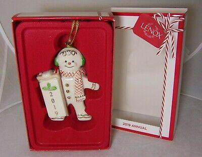 Lenox 2019 Annual Sledding Gingerbread man Christmas ornament NEW w/box Gingerbread Man Box