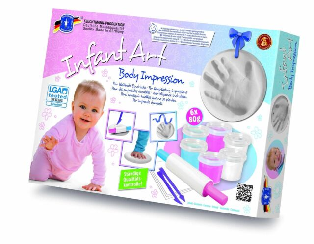 Feuchtmann Abdruck-Set BODY IMPRESSION Handabdruck Fußabdruck 6 x 80gr + Zubehör