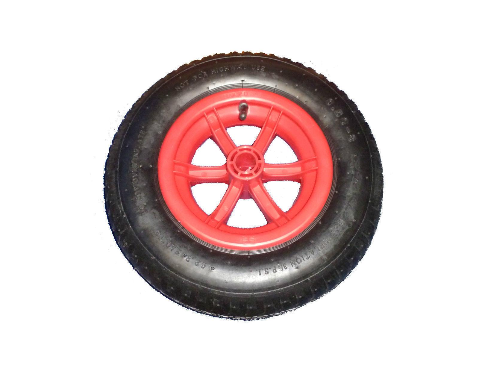 jeweils einem Sackkarrenrad mit Metall-Felge mit Kugellager in der Felge HKB /® 2x Lenkrolle /… 2x Bockrolle 260 mm x 85 mm incl
