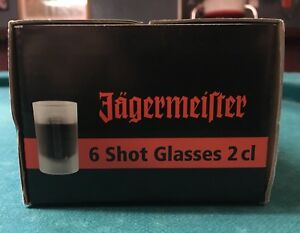 Frosted Jagermeister shot glass (set of 6)