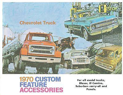 Chevrolet Truck Accessories Brochure - 1970 CHEVROLET TRUCK  GENUINE ACCESSORIES BROCHURE-COVERS ALL MODELS